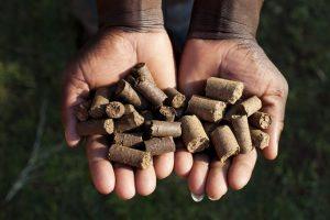 Biomass residue pellets